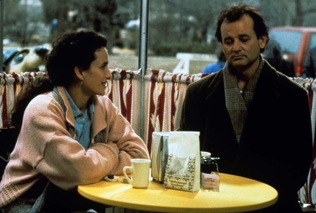"Bill Murray and Andie MacDowell star in the 1993 film ""Groundhog Day."""