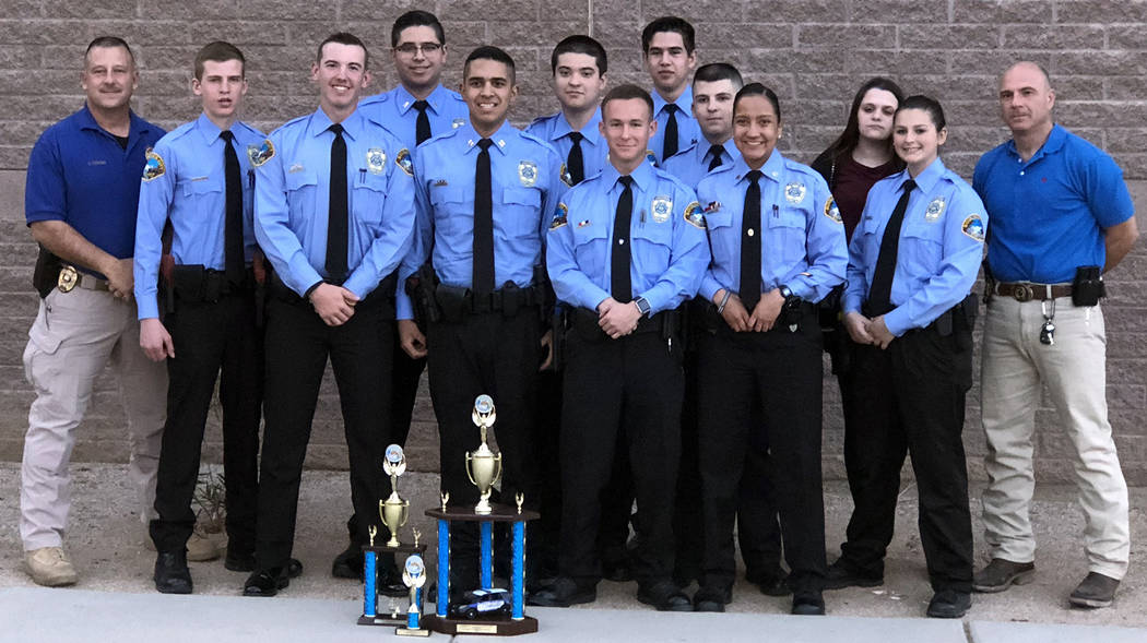 Boulder City Boulder City Explorer Post 198 earns several awards at the 20th Annual Chandler Tactical Competition from Jan. 12 to 14, from left, Boulder City Police Officer Craig Tomao, Justin Bal ...