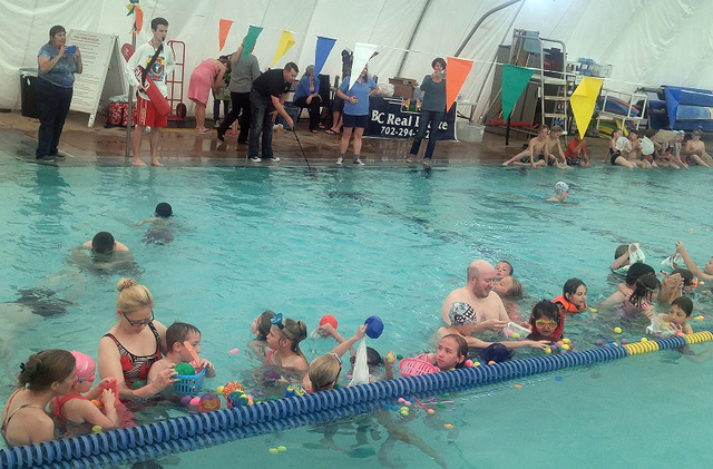 File Children will scramble for prize-filled eggs during the Easter Pool Plunge at the city's municipal pool Saturday. The event begins at 2:30 p.m.