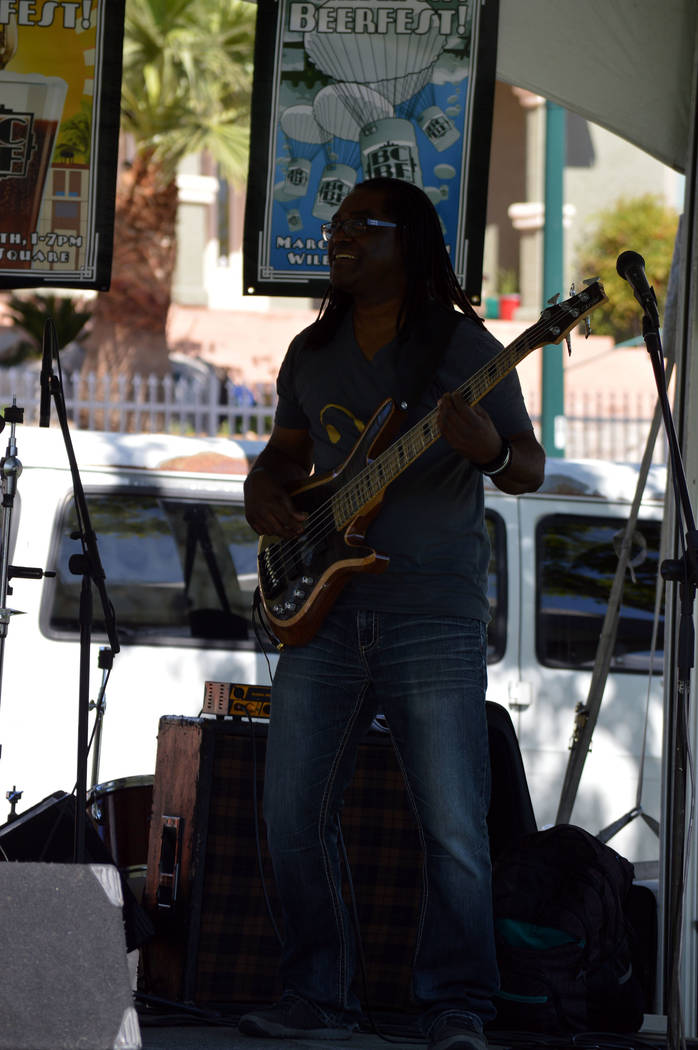 Celia Shortt Goodyear/Boulder City Review Walter Jones of Dave Tucker and His Imaginary Band performs at the 2017 Boulder City Beerfest.