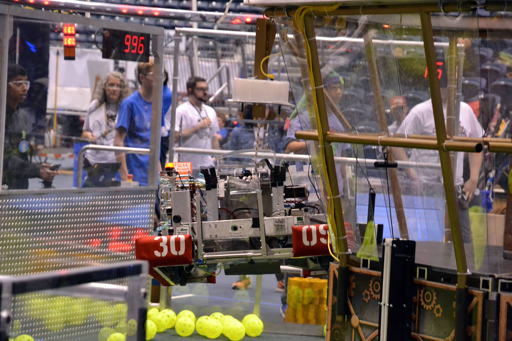 John Richner Boulder City High School's robotics team, the High Scalers, competes at a March event in Arizona.
