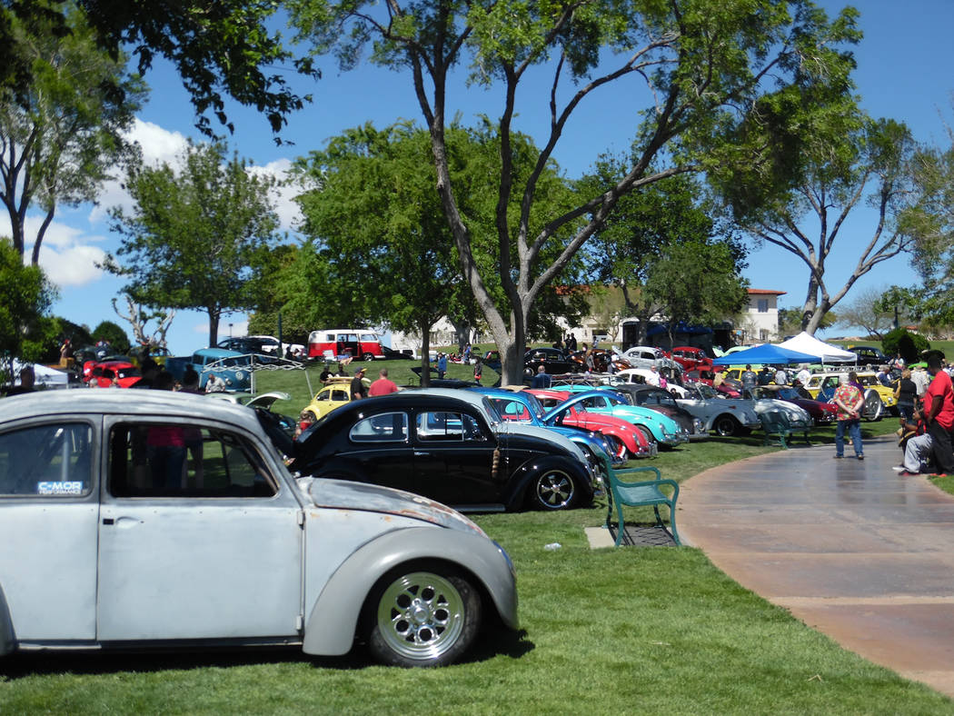 Hali Bernstein Saylor/Boulder City Review All makes and models of Volkswagens were on display Saturday at Wilbur Square Park for the annual VWs Invade the Dam car show.