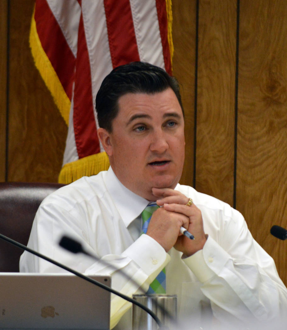 Celia Shortt Goodyear/Boulder City Review City Councilman Rich Shuman proposes the city give $10 million to public schools in Boulder City at $1 million per year over the next 10 years.