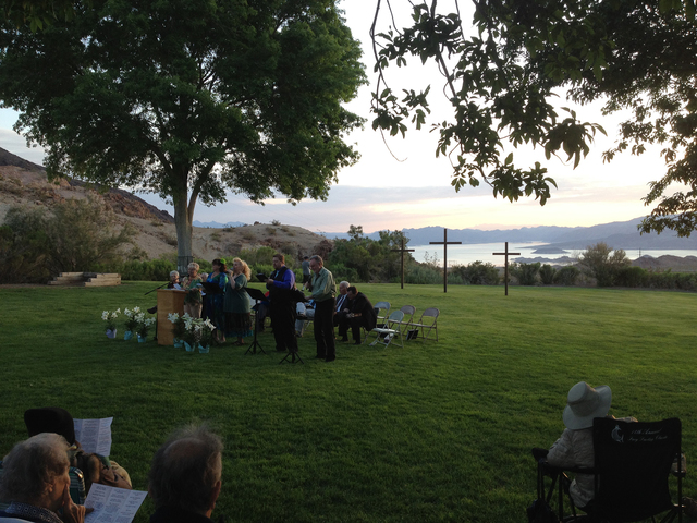 File Boulder City residents will gather at 6 a.m. Sunday in Hemenway Valley Park for the 30th annual Easter Sunrise Celebration presented by the Boulder City Interfaith Lay Council. The service wi ...