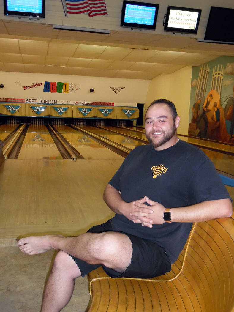 Hali Bernstein Saylor/Boulder City Review Sean Desrochers recently bowled a perfect game at Boulder Bowl, only the 15th recorded 300 since 1947.
