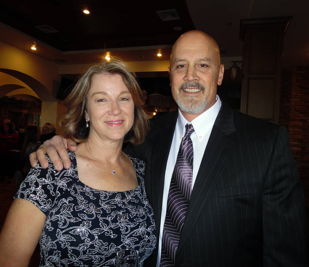 Hali Bernstein Saylor/Boulder City Review Boulder City Hospital CEO Tom Maher was accompanied by his wife, Polly, during Friday's Heart of the Community Gala fundraiser at the Boulder Creek Golf Club.