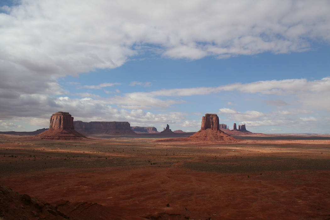 Deborah Wall Some of the finest panoramic views can be found at Monument Valley Navajo Tribal Park, situated on the border of Arizona and Utah.