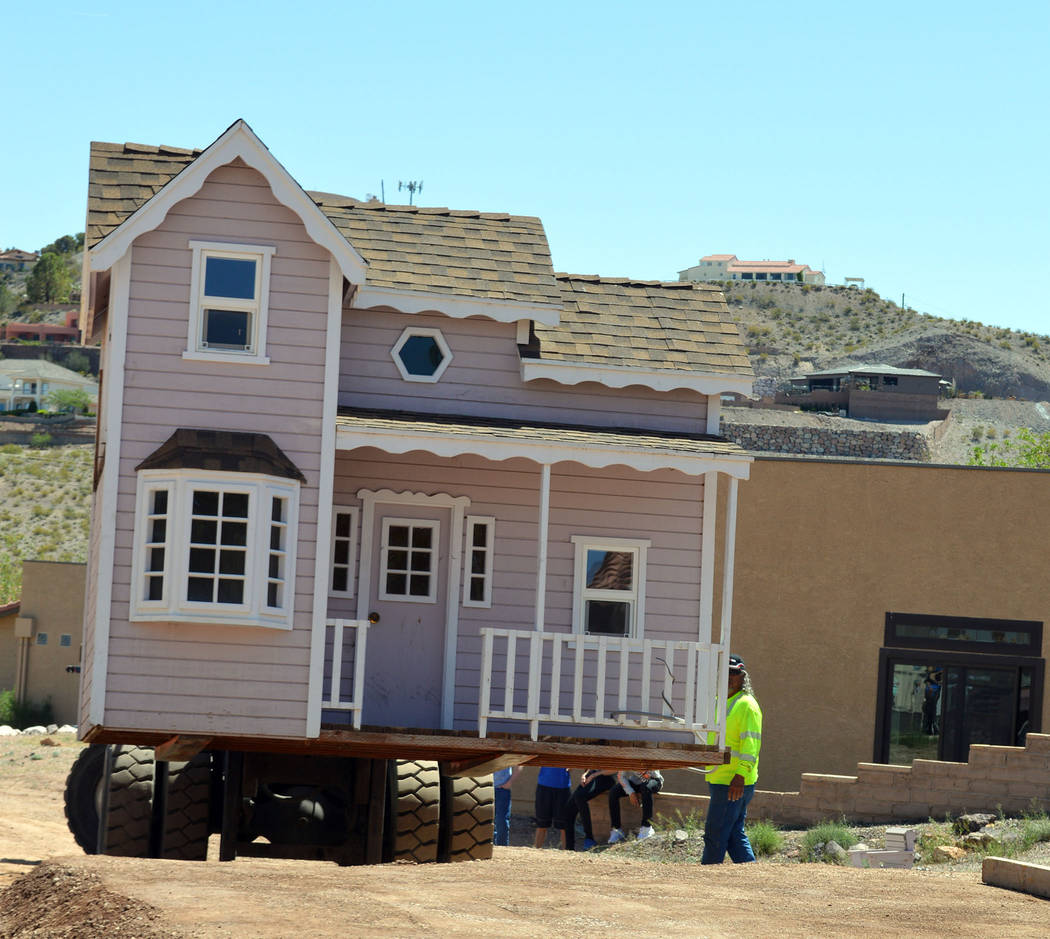 Celia Shortt Goodyear/Boulder City Review The Dielco Crane Co. installs a playhouse at St. Jude's Ranch for Children in Boulder City. The playhouse was donated by a Henderson family to Las Vegas n ...