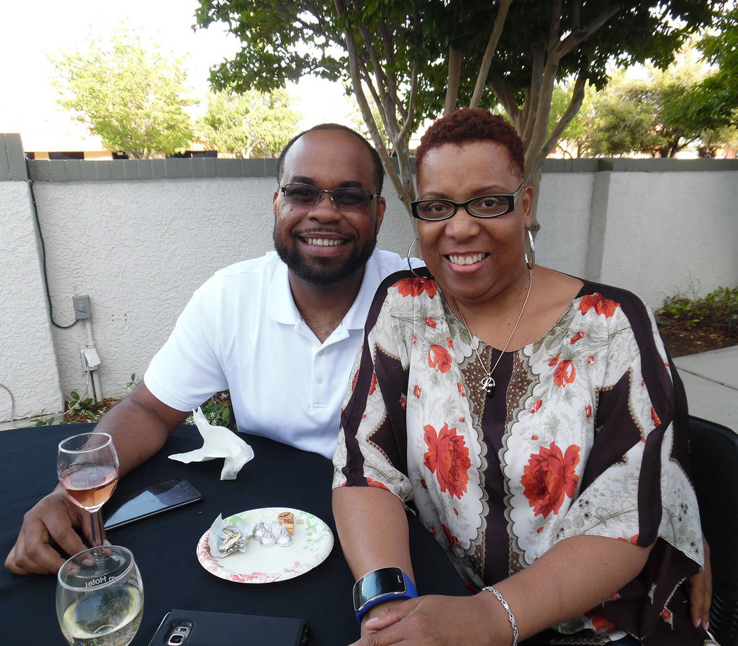Hali Bernstein Saylor/Boulder City Review Dionte Gant and Shana Daniels, both of Henderson, traveled to Boulder City on Saturday to attend the local branch of the American Association of Universit ...