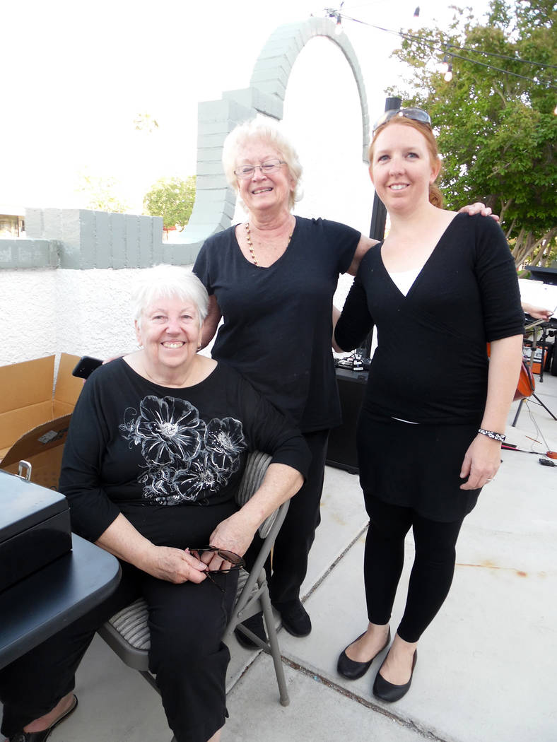 Hali Bernstein Saylor/Boulder City Review Helping organize Saturday's chocolate and wine tasting to benefit the scholarship fund for the local branch of the American Association of University wome ...
