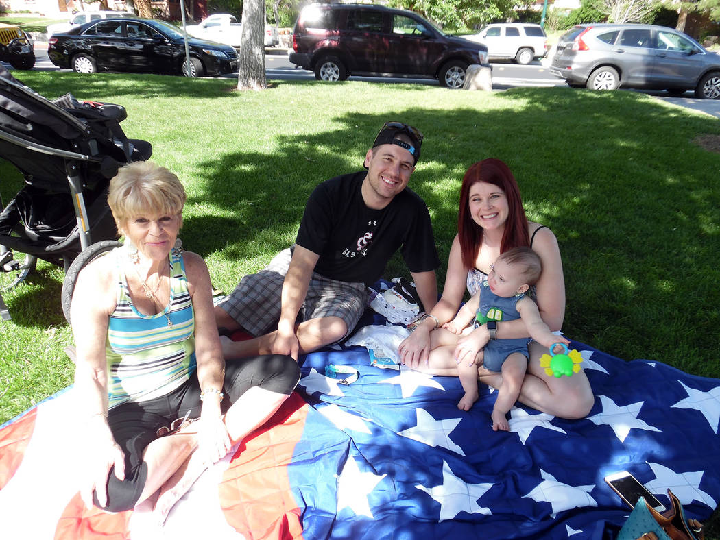 Hali Bernstein Saylor/Boulder City Review Kathy Shirley of Boulder City, left, and her family Jon-Michael Hudson, Jessica Shirley and 8-month-old Jaxon Hudson, spent time enjoying the outdoors as  ...