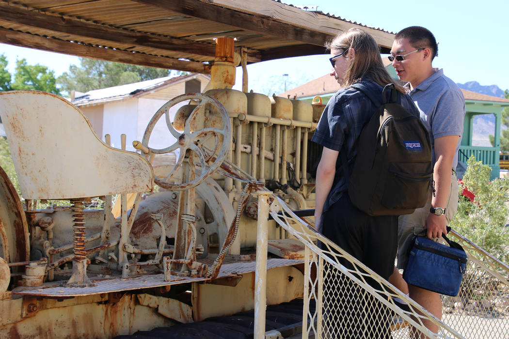 Boulder City High School yearbook While walking through the mining trail during Boulder City High School theater students' trip to the Clark County Heritage Museum on Friday Dane Desmond, left, an ...