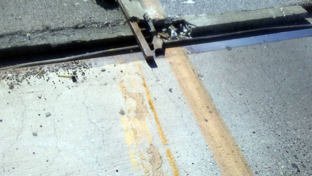 Andy Saylor A bridge joint on northbound U.S. Highway 93 failed on Tuesday afternoon, causing an accident and delays.