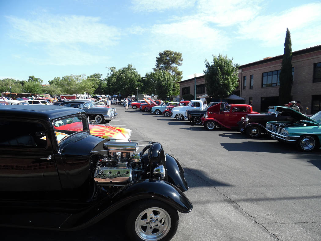 Hali Bernstein Saylor/Boulder City Review Classic and muscle cars, hot rods and one-of-a-kind rides were on display during the Pan Draggers Rod Run Car show as part of the 2017 Spring Jamboree.