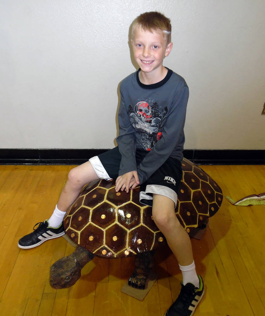 Hali Bernstein Saylor/Boulder City Review Brenden Green, 9, of Las Vegas stopped by the Southern Nevada Gem and Mineral Society show on Saturday that was held in conjunction with the Spring Jamboree.