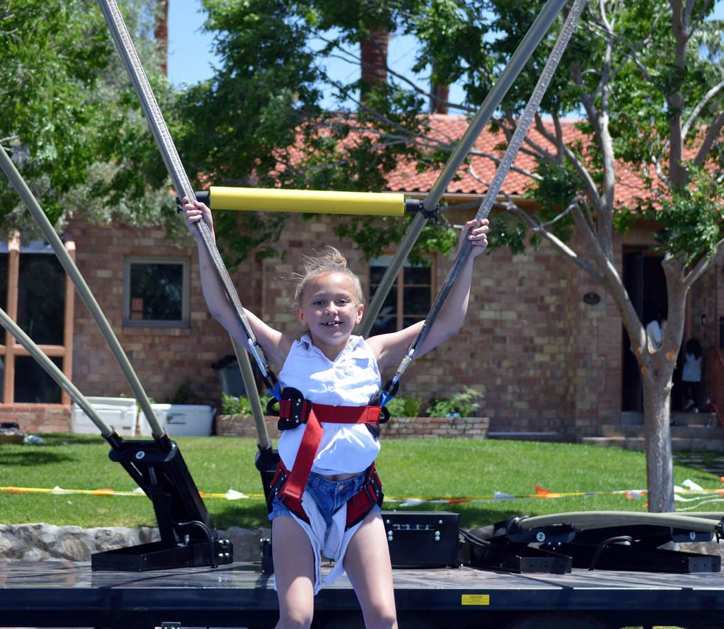 Celia Shortt Goodyear/Boulder City Review Braxlee Foley enjoys a ride at the Spring Jamboree.