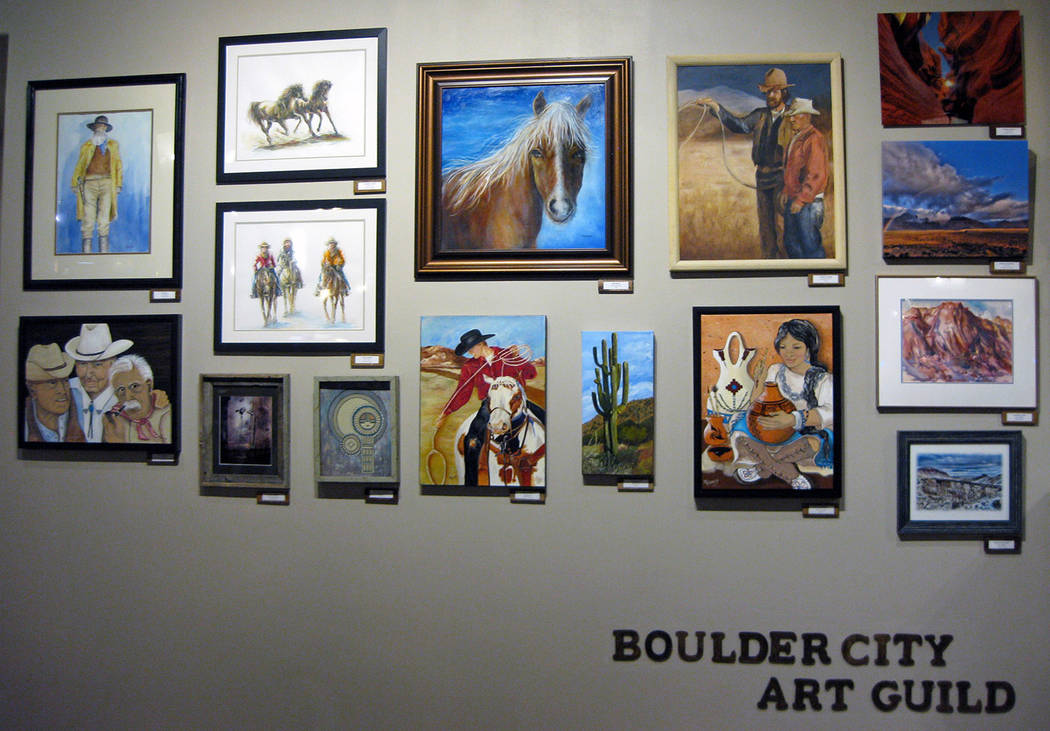 Boulder City Art Guild Members of the Boulder City Art Guild have installed a new exhibit of Western art at the Hoover Dam Lodge. A reception in their honor will be held from 4-6 p.m. June 18.