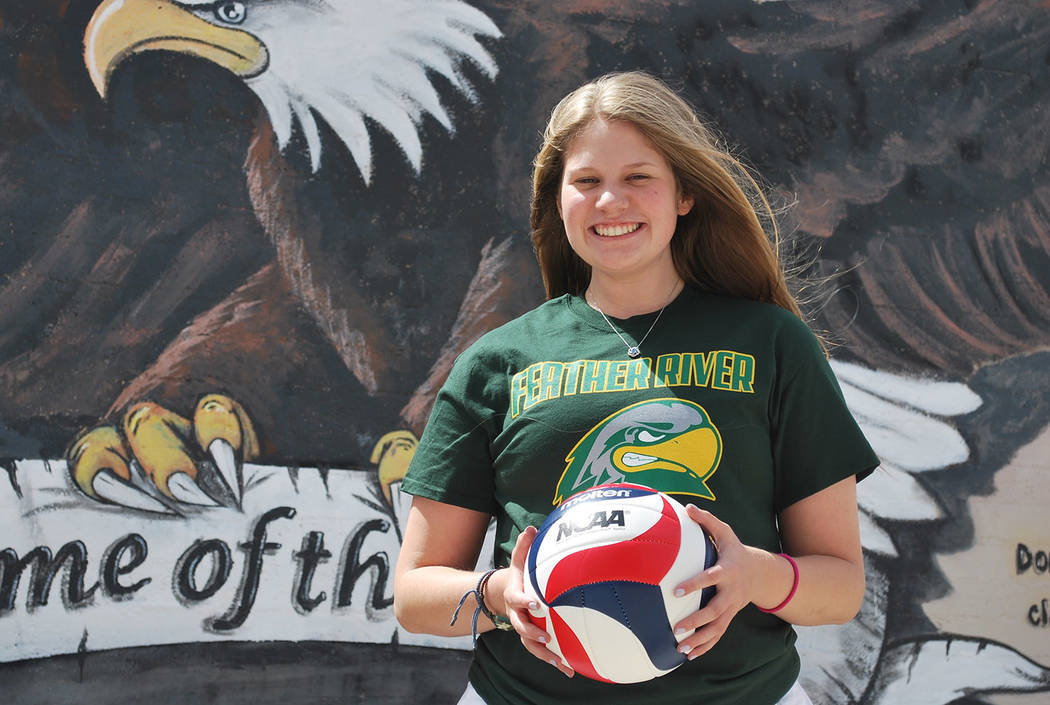 Summer Coyle/Boulder City Review Boulder City High School senior Cortney Blumenthal will attend Feather River College Quincy, California, where she can continue to hone her skills as a volleyball  ...
