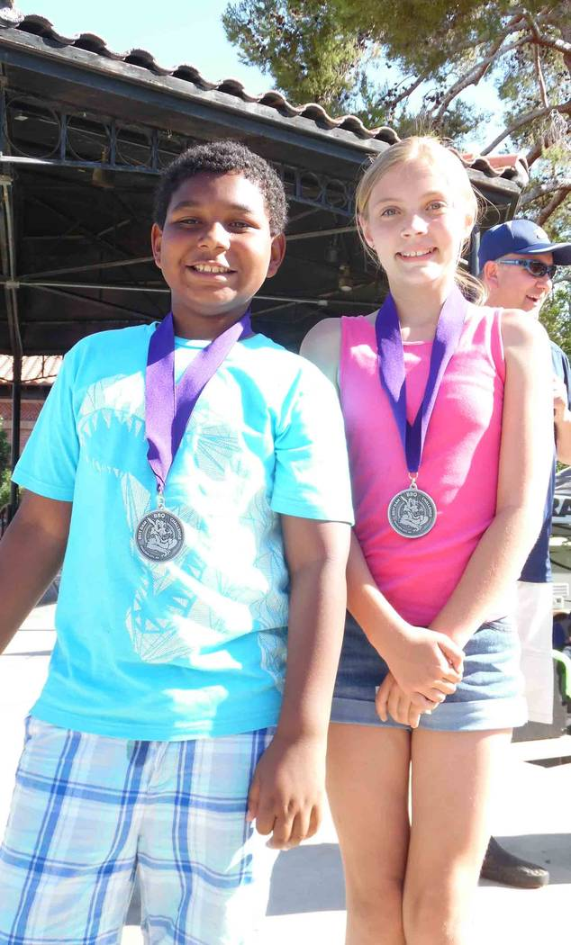 Hali Bernstein Saylor/Boulder City Review Tyson Blackmore of Las Vegas and Zoey Curtis of Boulder City won the KidsQue competition in the 6-12 and 13-18 age divisions, respectively, during the Bes ...