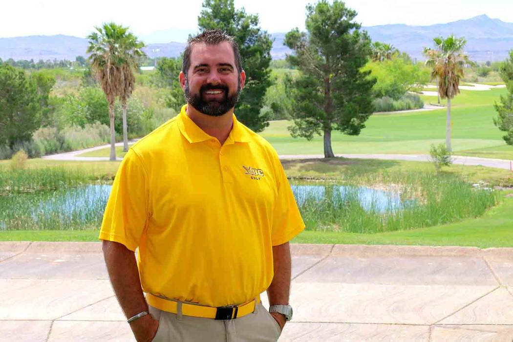 Laura Hubel/Boulder City Review Andy Schaper, who just completed his first year as coach of the boy's golf team at Boulder City High School, was named the 3A coach of the year.