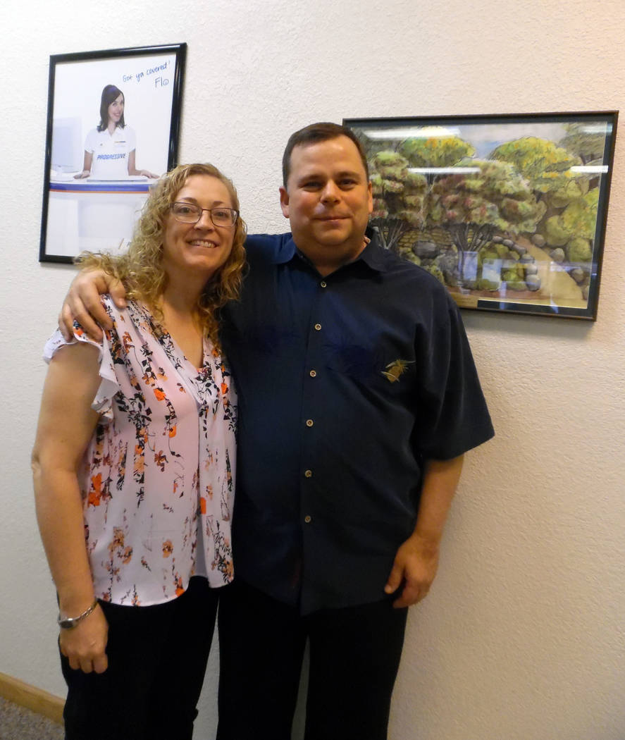 Hali Bernstein Saylor/Boulder City Review Elizabeth and John Chase give back to the community they say gave so much to them by volunteering with a variety of organizations including Girls Scouts a ...