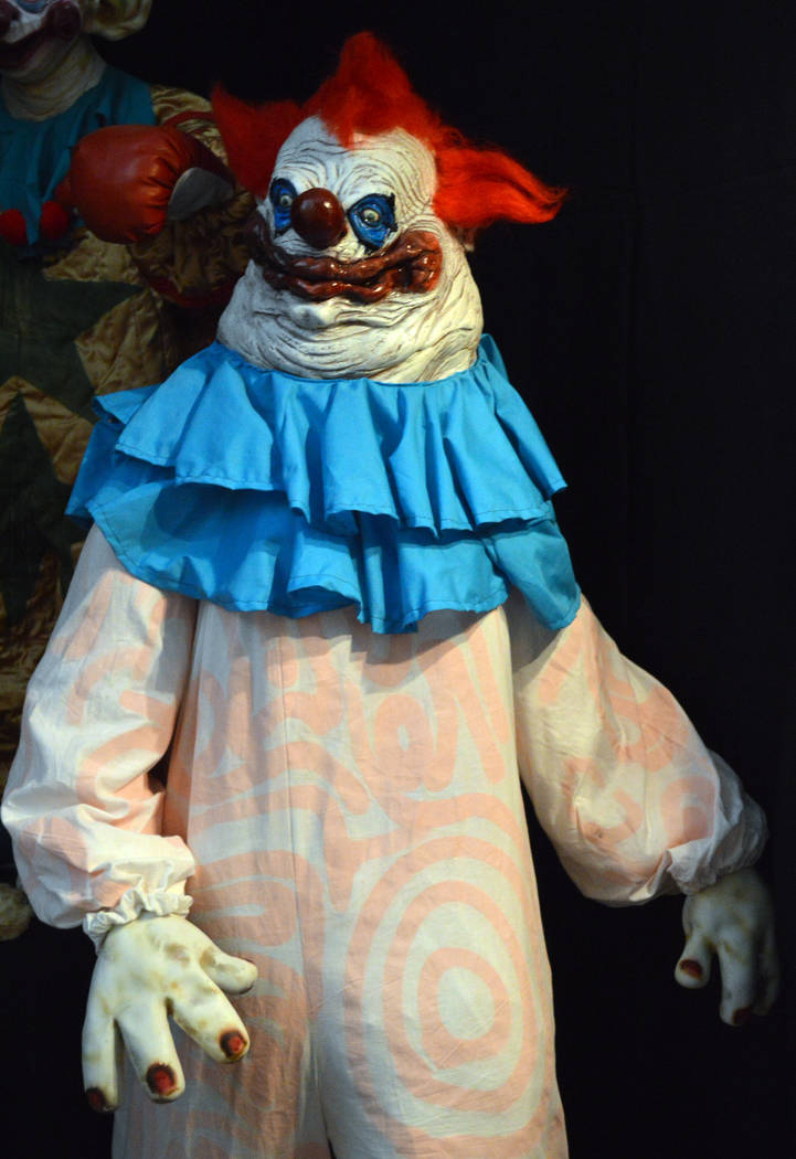 Celia Shortt Goodyear/Boulder City Review Tom Devlin, and his wife, Lola, created this crazy clown from outer space Halloween costume when she was pregnant with their first child, Lily.