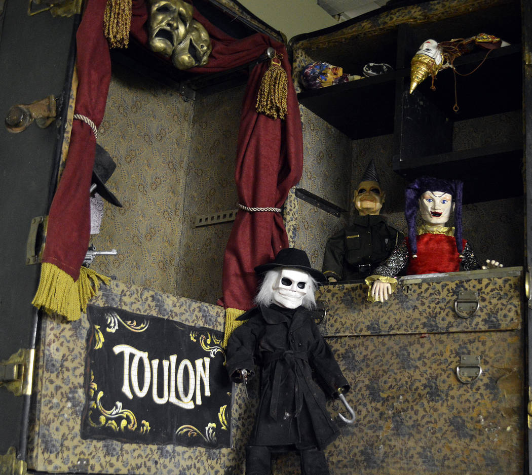 """Celia Shortt Goodyear/Boulder City Review This vignette inside Boulder City's newest attraction, a monster museum, showcases Tom Devlin's work from the movie """"Puppet Master."""""""