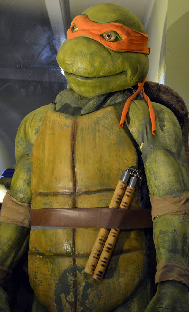 """Celia Shortt Goodyear/Boulder City Review An early inspiration for Devlin was the """"Teenage Mutant Ninja Turtles,"""" including Michelangelo. His museum will feature a full-size set of all four turtles."""