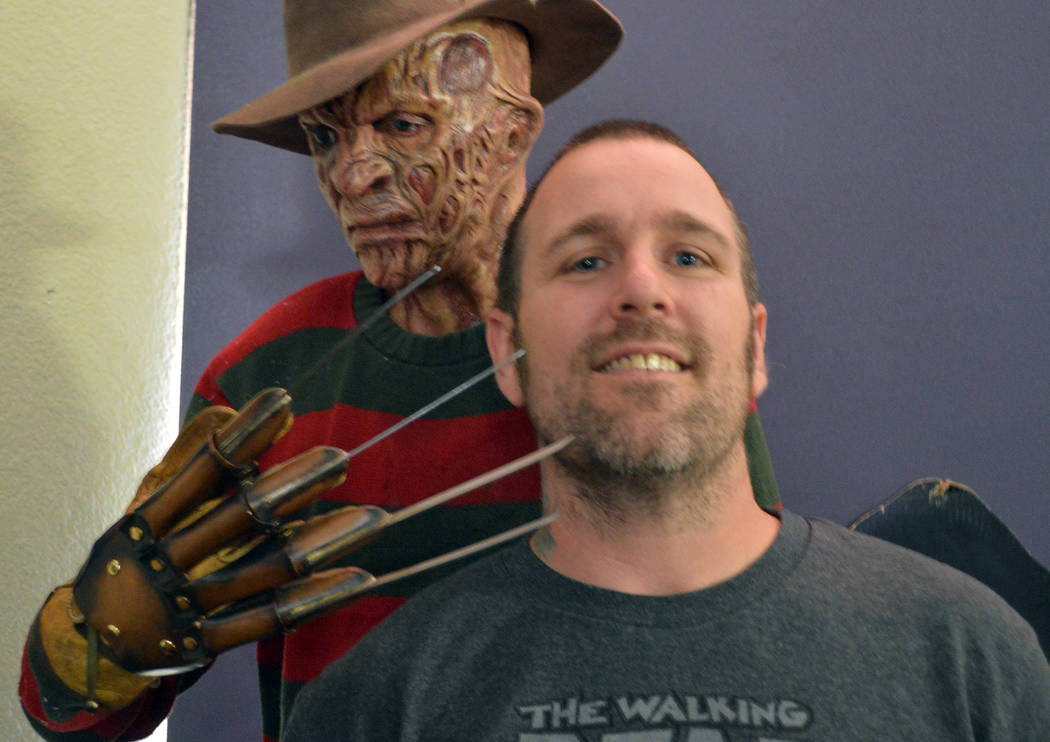 Celia Shortt Goodyear/Boulder City Review Artist Tom Devlin is opening a monster museum in Boulder City to showcase practical effects in movies. The museum will feature movie memorabilia and Devli ...