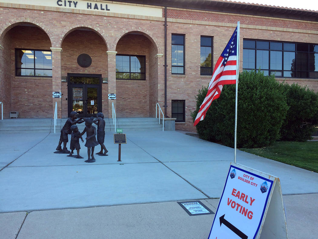 Hali Bernstein Saylor/Boulder City Review Early voter turnout for the 2017 municipal election surpassed early voter turnout for the primary. Residents will be electing two city councilman and weig ...