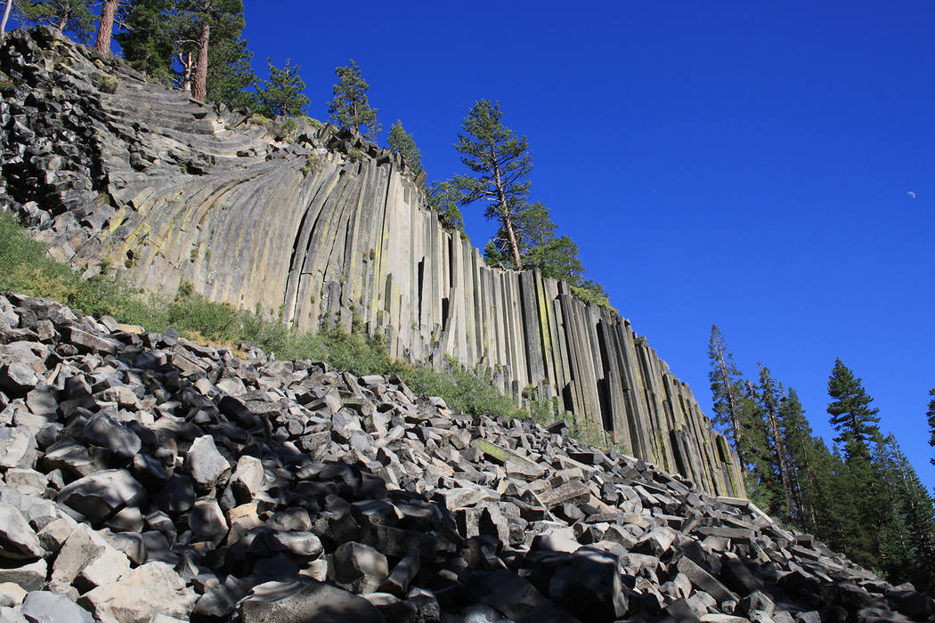 Deborah Wall Devils Postpile National Monument near Mammoth Lakes, California, is best known for its rare columnar basalt formation.