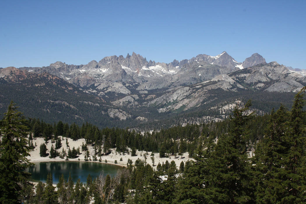 Deborah Wall The Minarets are the jagged peaks located in the Ritter Range, here seen from Mammoth Lakes, California.
