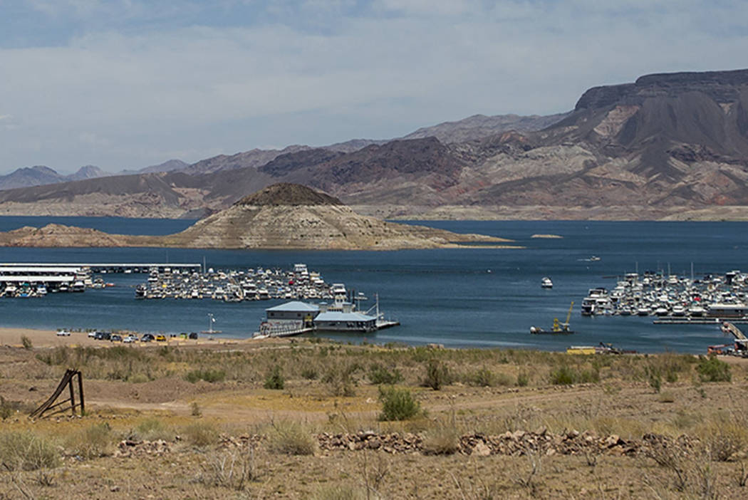 Patrick Connolly/Las Vegas Review-Journal The latest forecast for Lake Mead predicts that the water level of the reservoir will be 4 feet less than current levels.