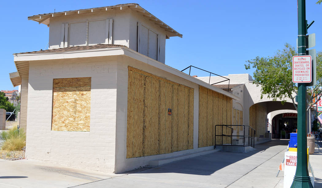 Celia Shortt Goodyear/Boulder City Review Boulder City's Historic Preservation Committee recommended that the owner of the Browder building on Nevada Way find a buyer for it rather than demolish i ...