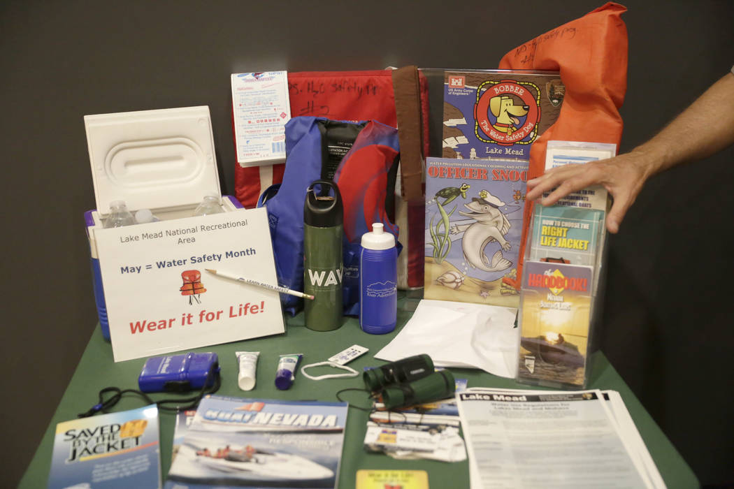 Gabriella Angotti-Jones/Las Vegas Review-Journal A display at the Alan Bible Visitor Center at Lake Mead National Recreation Area highlights the importance of being safe in the water.
