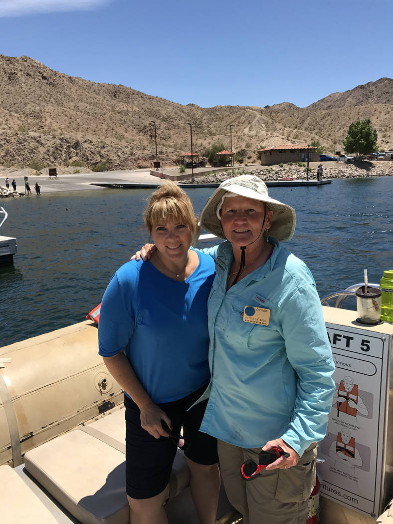 Kathleen Wood Jill Lagan-Rowland, left, is the daughter of the late Jim Bob Rowland, founder of Jim Bob Rowland's Raft Adventures, is joined by Kathleen Wood, who piloted the raft for a reunion tour.