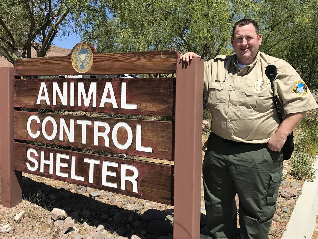 Boulder City Animal Shelter Brendan Hanson joined the city's staff in May as the newest animal control officer.
