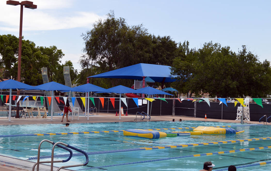 Celia Shortt Goodyear/Boulder City Review Boulder City Pool is one place in town to cool off during the hot summer temperatures.