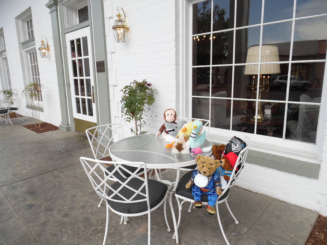 Hali Bernstein Saylor/Boulder City Review A visit to the Boulder Dam Hotel was included as stuffed animals attending Monday's Teddy Bear Sleepover at Boulder City Library went on an adventure thro ...