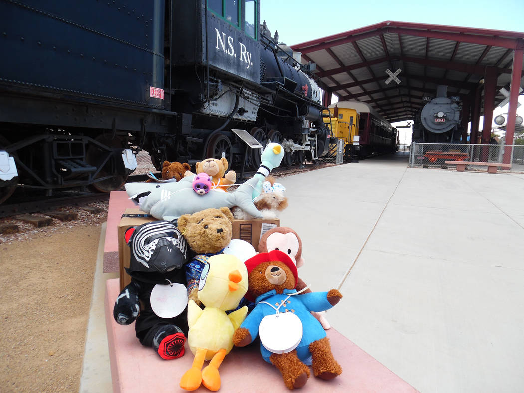 Hali Bernstein Saylor/Boulder City Review A visit to the Southern Nevada Railway Museum was part of the adventure taken by stuffed animals participating in Boulder City Library's Teddy Bear Sleepo ...