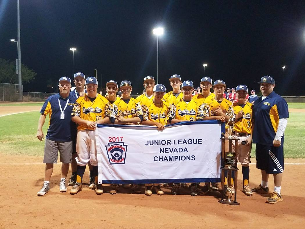Laura Hubel Boulder City Little League won its first Nevada Junior Little League state championship on July 22. Boulder City now advances to regionals in San Jose, California. The team remains und ...