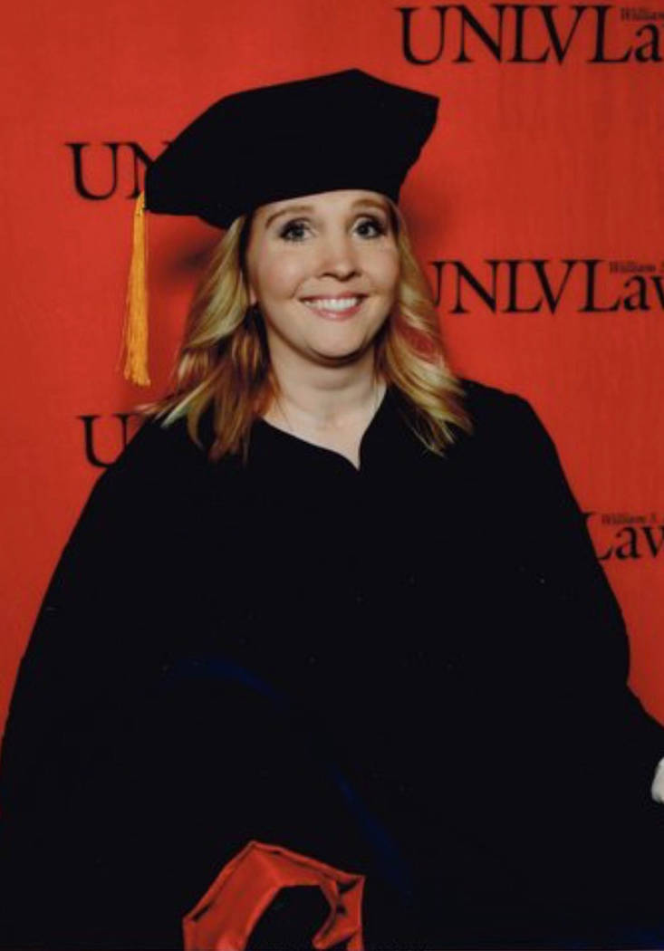 Gradimages Brianne Perkins of Boulder City earned her Juris Doctor from the William S. Boyd School of Law at UNLV in May.