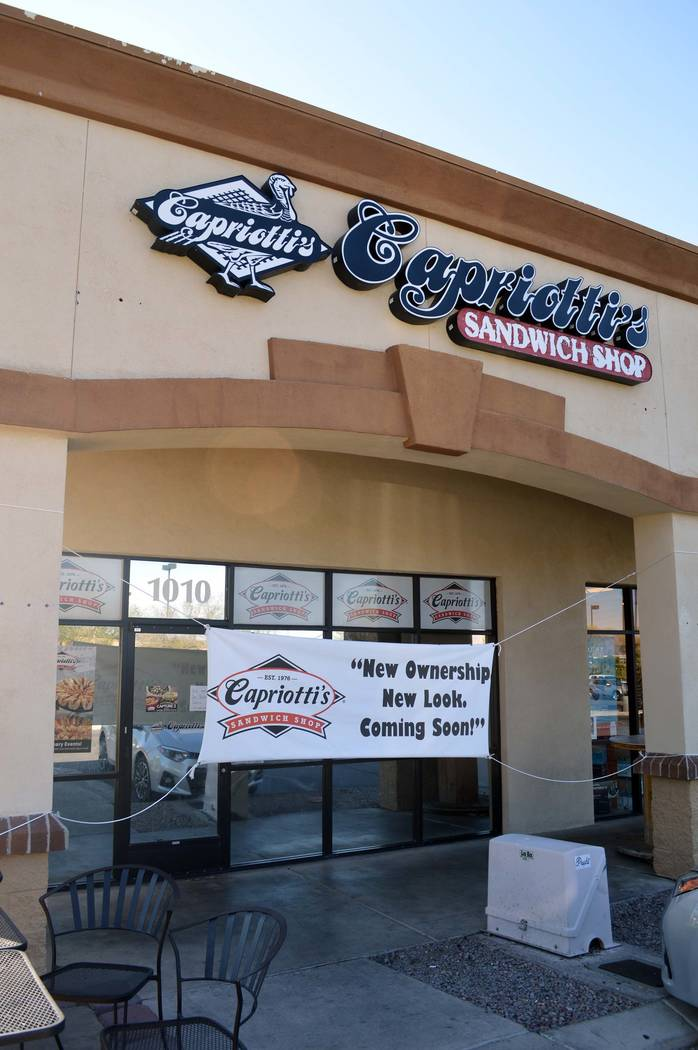 Celia Shortt Goodyear/Boulder City Review Capriotti's Sandwich Shop is under new management and temporarily closed for remodeling. It is scheduled to reopen on Sept. 1.