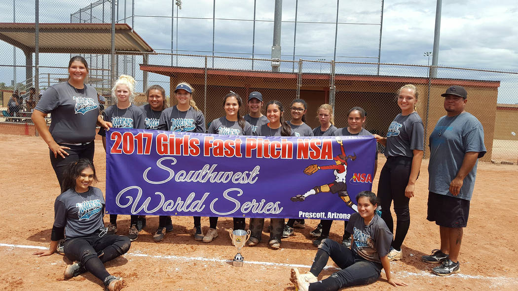 Timmie Bennett Bailey Bennett-Jordan, second from right in back, joined with the Juggernaut team from Arizona to play in the National Softball Association's Southwest World Series on July 26-30, w ...