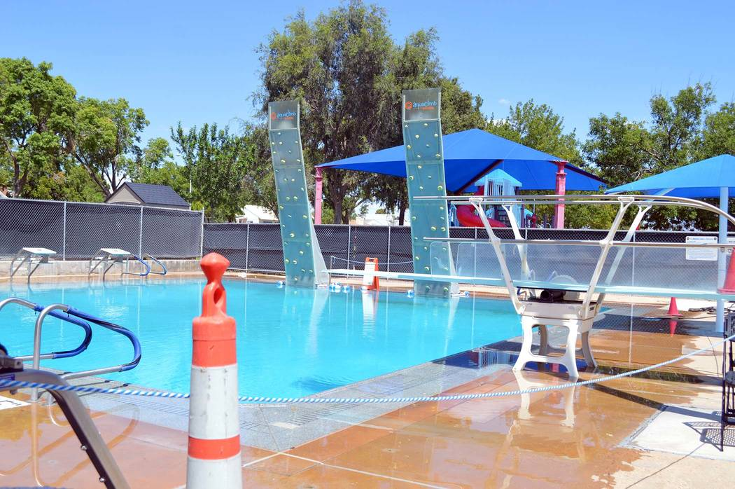 Celia Shortt Goodyear/Boulder City Review The diving pool at the Boulder City Pool has been closed for several weeks because of a cracked connection pipe between the filter pit and the pump. It sh ...
