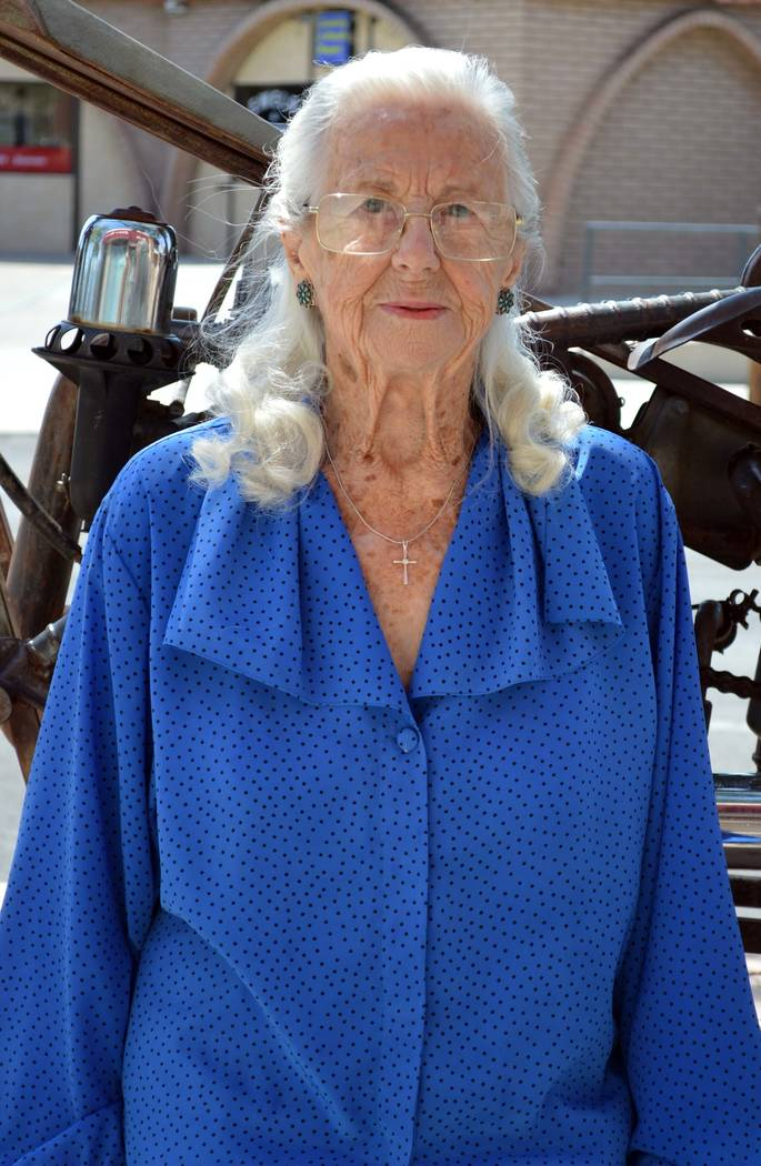 Celia Shortt Goodyear/Boulder City Review Boulder City resident Ruth Taylor has spent her life serving others. At 93 years young, she served in World War II, was honored by the Department of the I ...