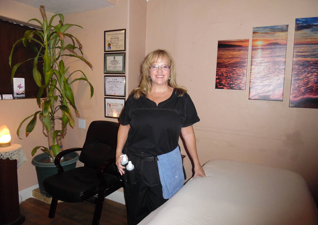 Hali Bernstein Saylor/Boulder City Review Dawn Hooper of Massage by Dawn is marking her one-year anniversary. The licensed massage therapist offers a variety of services including cupping therapy, ...