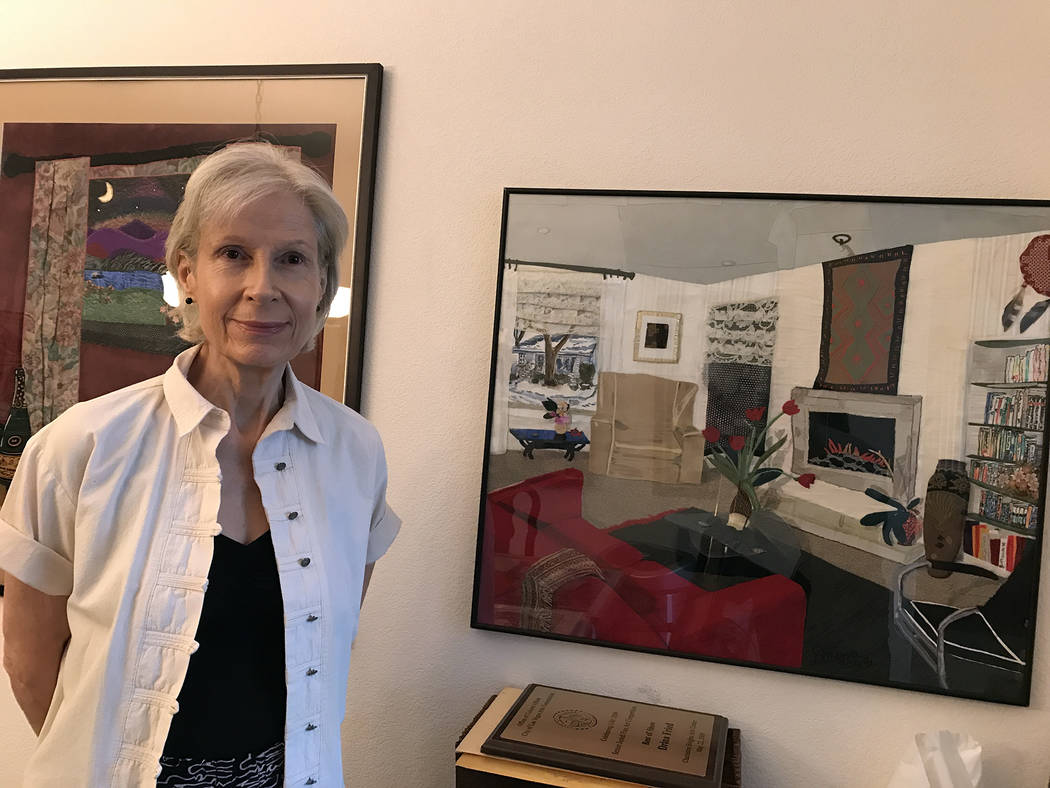 Hali Bernstein Saylor/Boulder City Review Artist Drina Fried will showcase some of her embellished fabric collages inside Boulder City Art Guild's gallery throughout the month of September. A re ...