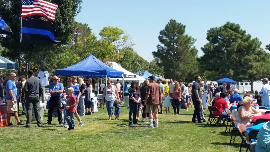 Celia Shortt Goodyear/Boulder City Review Bicentennial Park was full of community members and visitors on Saturday who came to thank first responders at the Hero & First Responder Appreciation ...