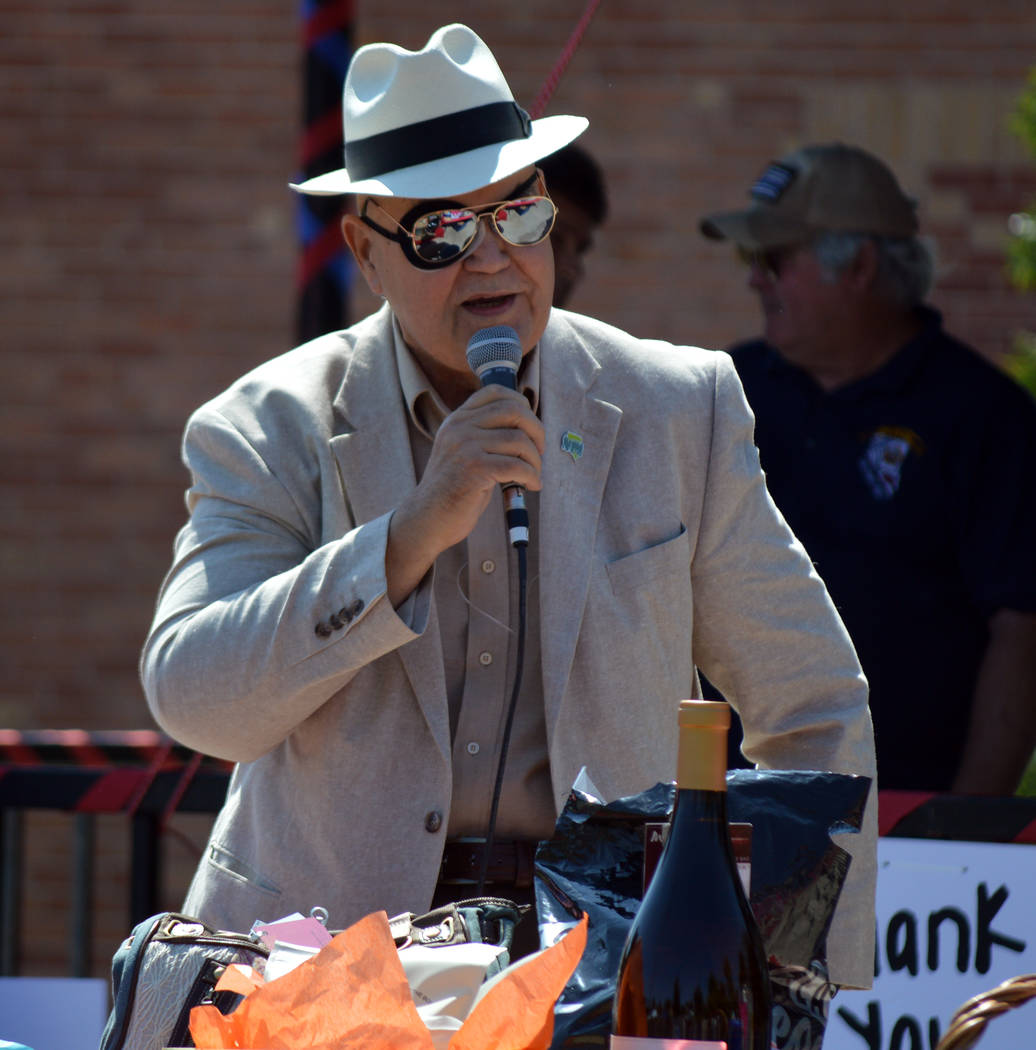 Celia Shortt Goodyear/Boulder City Review City Councilman Warren Harhay thanks first responders at the Hero & First Responder Appreciation Day on Saturday. The second annual celebration was he ...